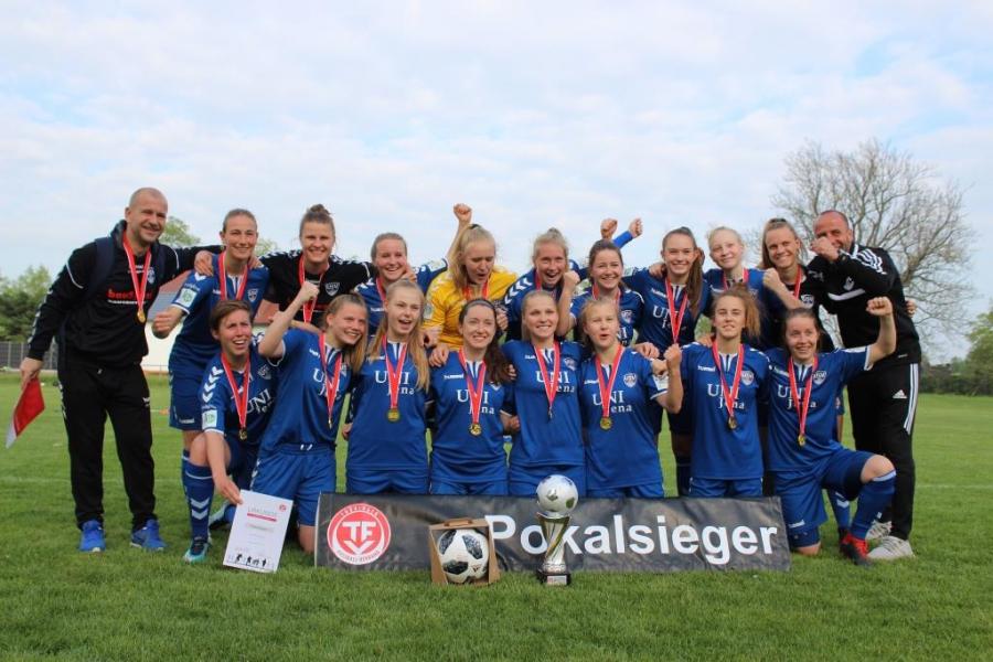 U21 des FF USV Jena gewinnt den Thüringenpokal .. Finale: FF USV Jena – 1. FFV Erfurt 1:0 (0:0) - auch U13 erfolgreich