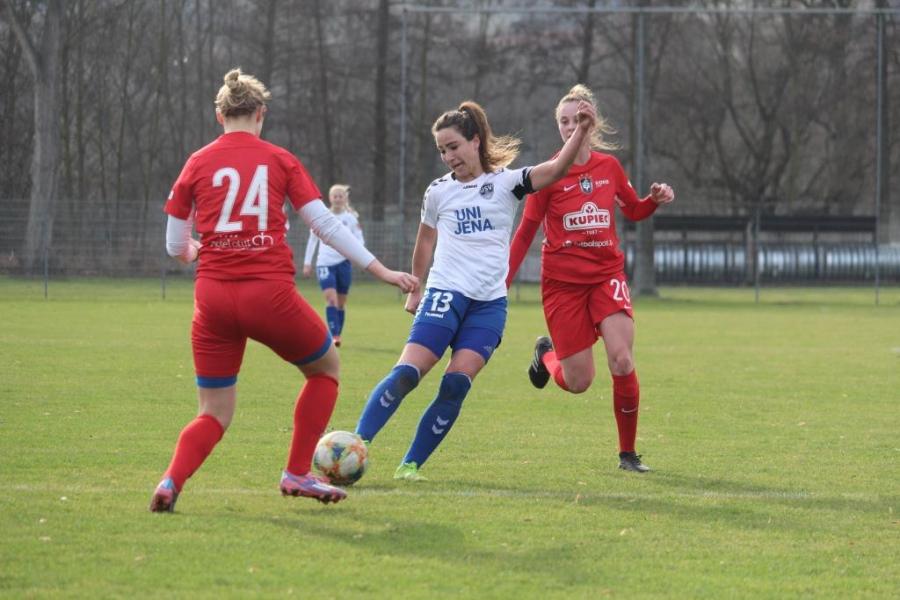 Generalprobe erfolgreich absolviert Testspiel: FF USV Jena - KKPK Medyk Konin 1:0
