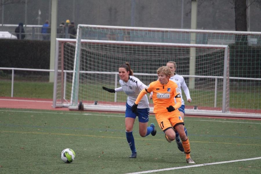 Der Blick auf den Saisonendspurt gerichtet 2. Frauen-Bundesliga: TSG 1899 Hoffenheim U20 – FF USV Jena